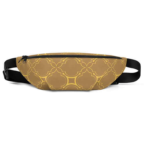 Golden Geometric Pattern Fanny Pack