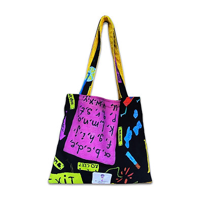 """""""Learn the Alphabet"""" Tote Bag"""
