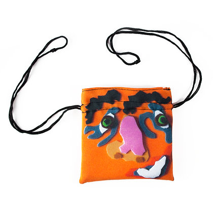 """""""Colourful Faces"""" Small Pouch"""