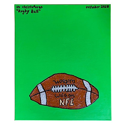 """""""Rugby Ball"""" Painting"""