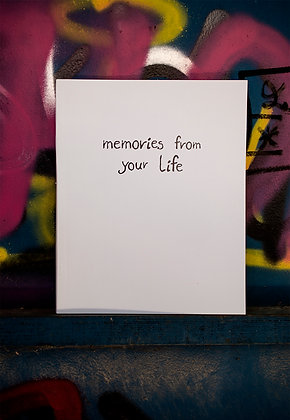 """""""Memories from your Life Book"""""""
