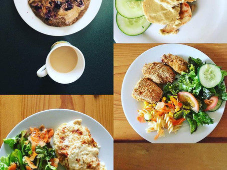 Un día de comidas que ayudan al SOP