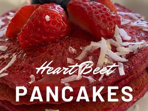 Heart-BEET Pancakes