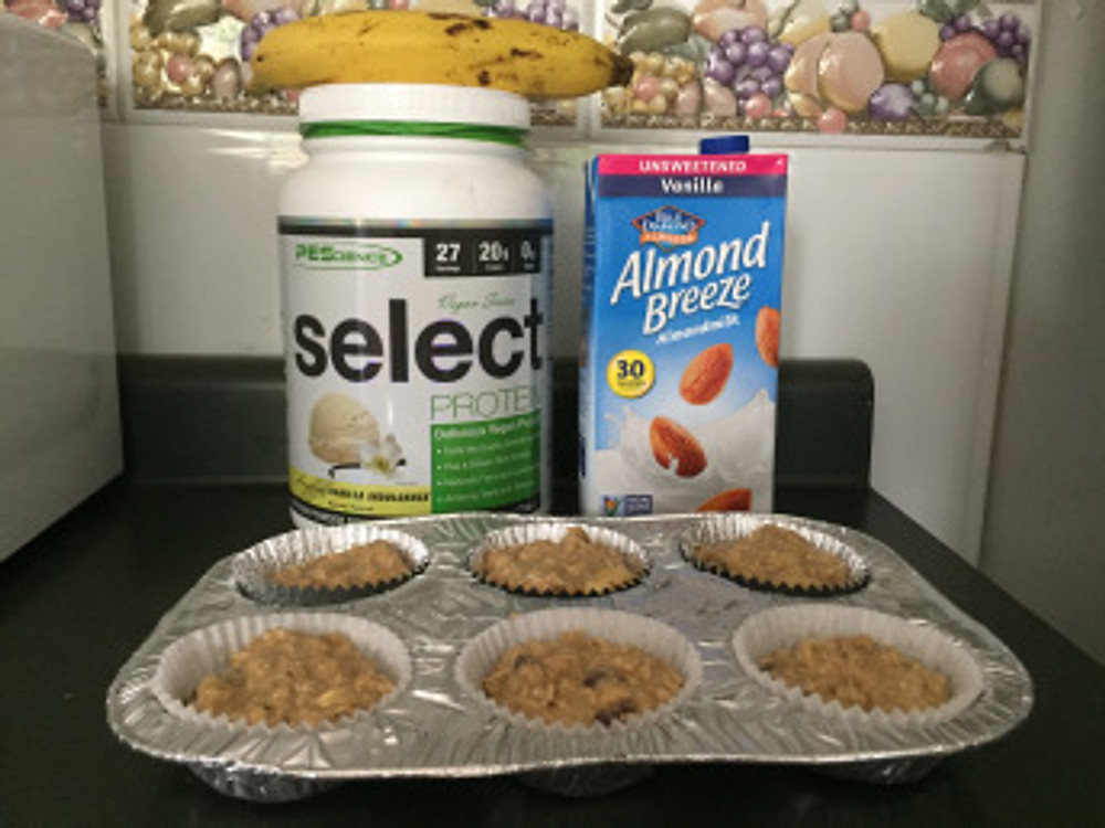 Muffins de Proteina Vegano