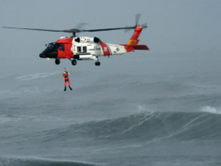 A Boat, a Diver and a Helicopter…Friends