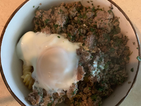 Chickpea Rotini with Beef & Mushrooms