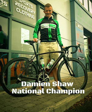 Damien Shaw Ireland's National Road Racing Champion for Cycling