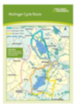 Mullingar, Westmeath County  Waterway Cycling Map Lough Owel Lough Ennell
