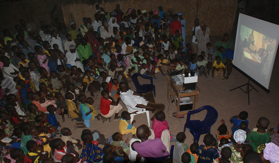 Film Showing Village Audience Tamba