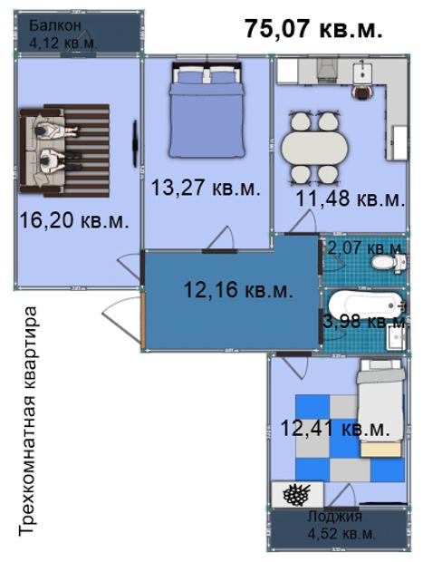 Квартира 85