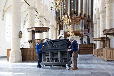 Projects | refurbished contract furniture at Grote Kerk Naarden (NL).