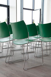Projects | Curvy chairs and Cobra bar stools made of 100% recycled plastic
