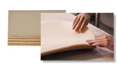 The moulded foam used by Casala is durable and less harmful to the environment than standard cold foam.