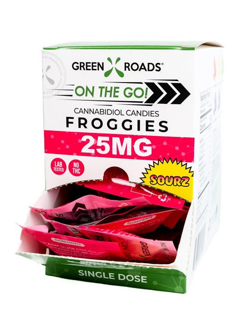 Box of 30 - Sour Froggies 25 mg