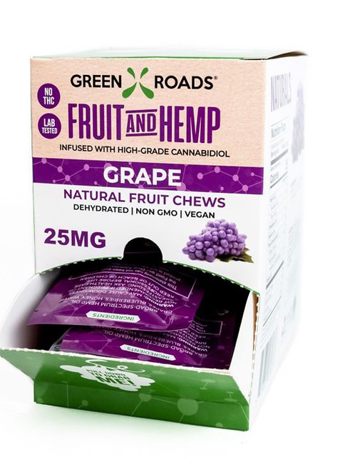 Box of 30 - 25 Mg Fruit Bites Grape