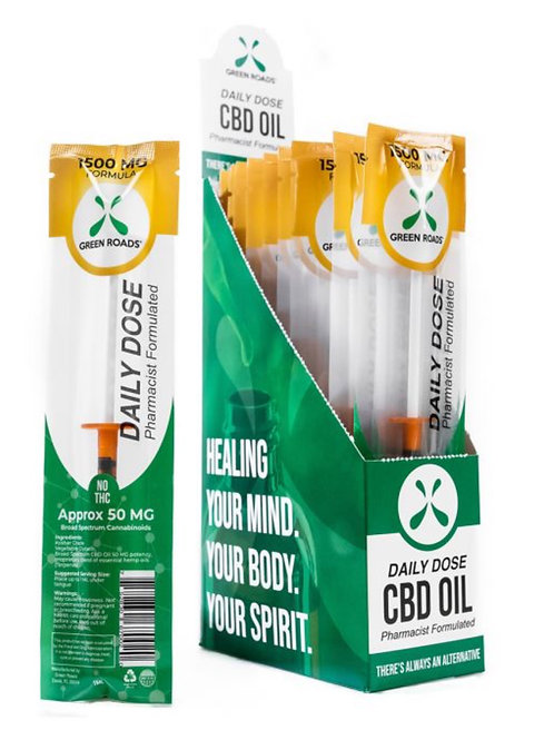 Daily Dose - (Box of 20) 1500 mg Hemp Oil