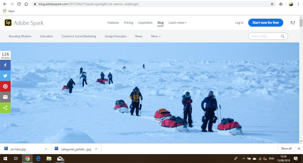 Adobe Spark and Ice Warrior photo