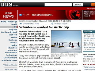 Volunteers wanted for Arctic trip