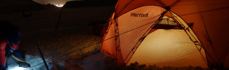 Camping during polar expditon training