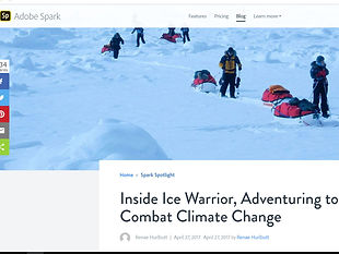 Inside Ice Warrior, Adventuring to Combat Climate Change