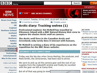 Arctic diary: Tracking wolves (1)