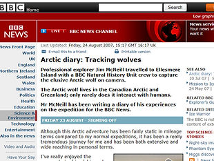 Arctic diary: Tracking wolves