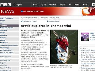 Arctic explorer in Thames trial