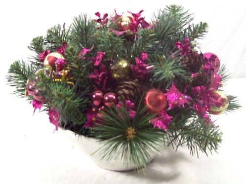 Pink Christmas Bowl