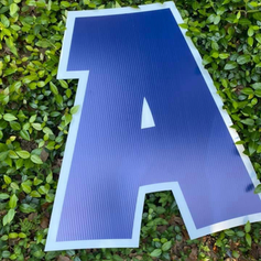 Dark Blue Letters
