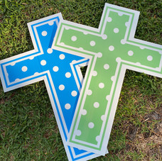 Blue & Green Cross