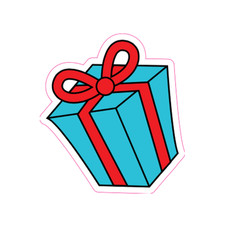 Blue/Red Gift