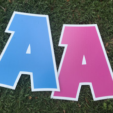 Pink/Blue Letters