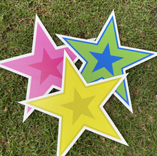 Pink, Yellow, Green Stars