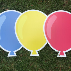Blue/Yellow/Red Balloons