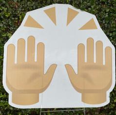Hands Up Emoji