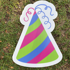 Pink Green Blue Party Hat