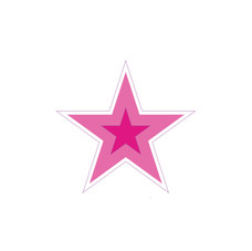 Pink Two-Tone Star