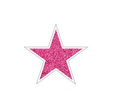 Pink Glitter Star