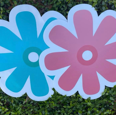 Blue & Pink Flower