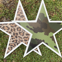 Leopard & Camo Stars