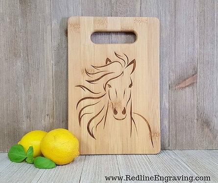 Horse- Bamboo Cutting Board