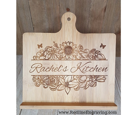 Personalized- Sunshine & Flowers- Recipe Stand