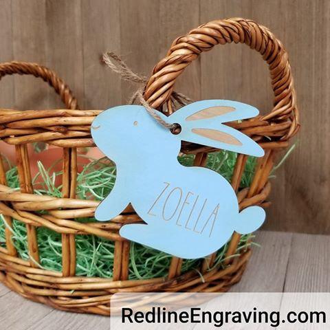 Easter Basket Tags- Easter Bunnies