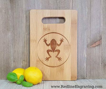 Frog- Bamboo Cutting Board