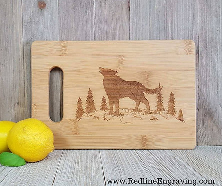 Wolf Bamboo Cutting Board