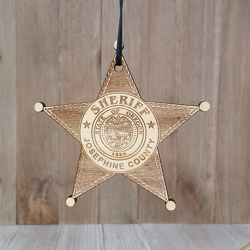 Laser Cut Wood Logo Ornament-Set of 12