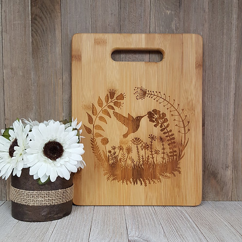 Hummingbird- Bamboo Cutting Board