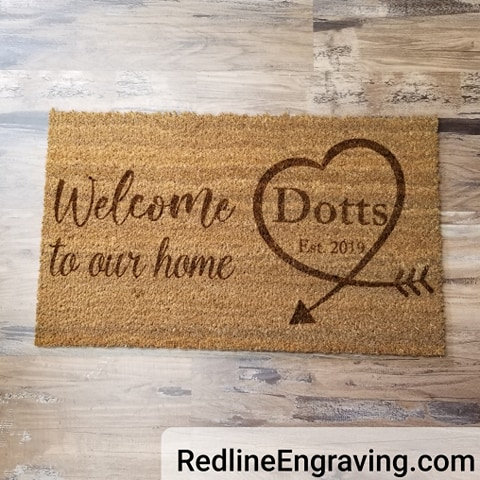 Welcome to our Home- Personalized Doormat