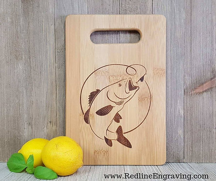 Bass-Fish- Bamboo Cutting Board