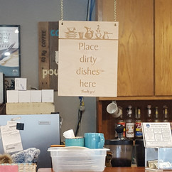 Place Dirty Dishes Here
